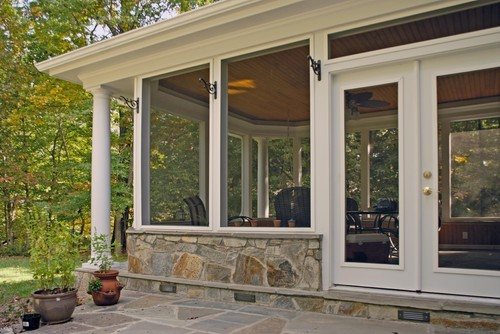 Does the stone work match the rest of your house for Portico cost estimate