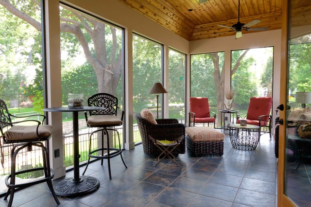 Screened/Enclosed Patio - Traditional - Porch - Dallas ... on Outdoor Inclosed Patio Ideas id=17948