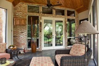 Screened Enclosed Patio Traditional Porch Dallas