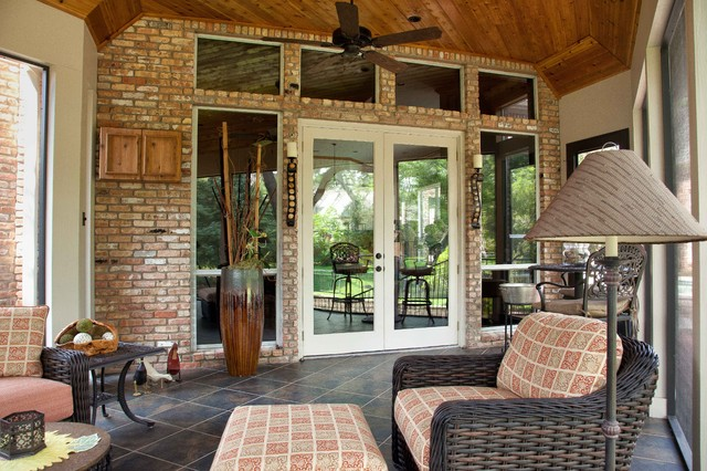 Screened/Enclosed Patio - Traditional - Porch - dallas - by DFW Improved