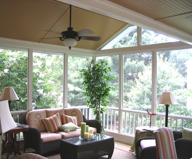 Screened In Back Porches Traditional Verandah Atlanta By