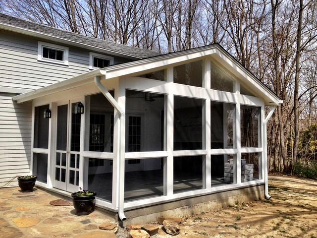 Screened In Porch Traditional Porch New York By