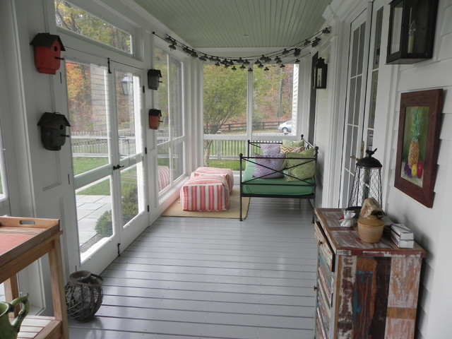Screened porch addition for Breezeway flooring ideas