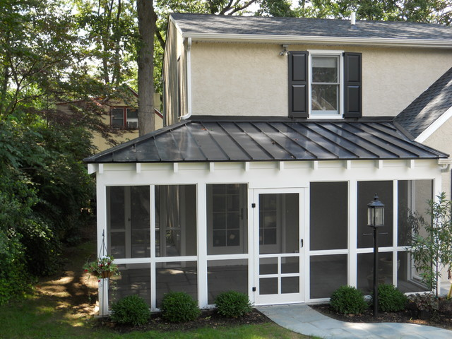 Screened Porch And Patio Traditional Porch