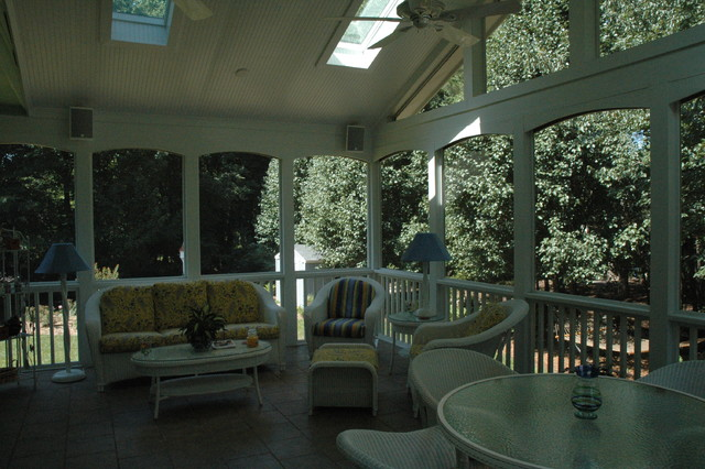 Screened Porch Ideas traditional-porch
