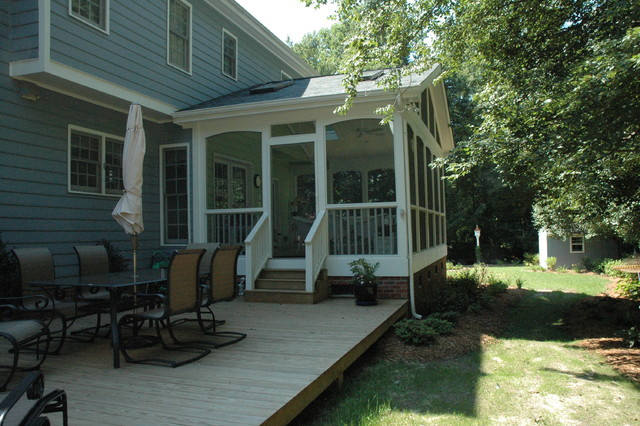 Screened porch ideas traditional porch for Screened in porch ideas design