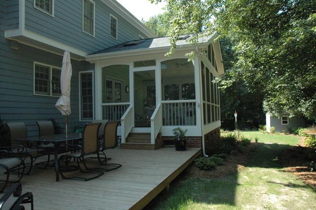 Screened Porch Ideas Traditional Verandah