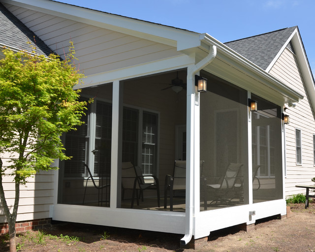 Bathroom wall decor ideas - Screened Porch Ideas Traditional Porch