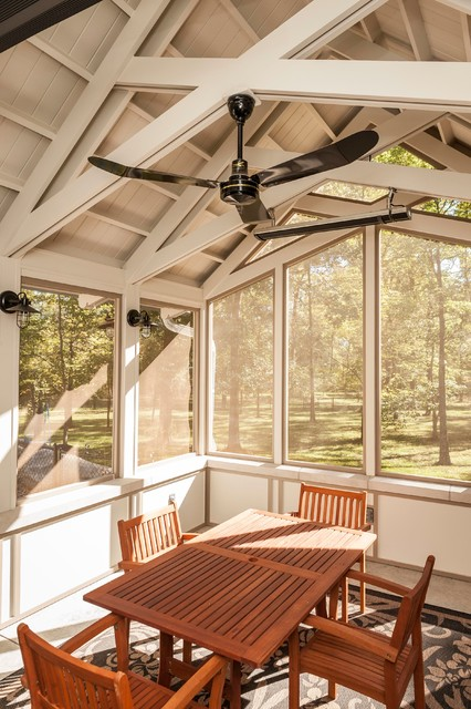 Screened Porch Interior Traditional Porch Indianapolis By Corinthian Fine Homes