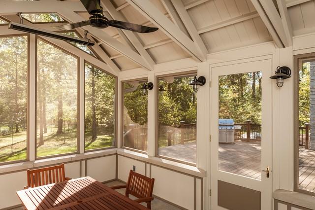 Screened Porch Interior : Screened porch interior traditional veranda