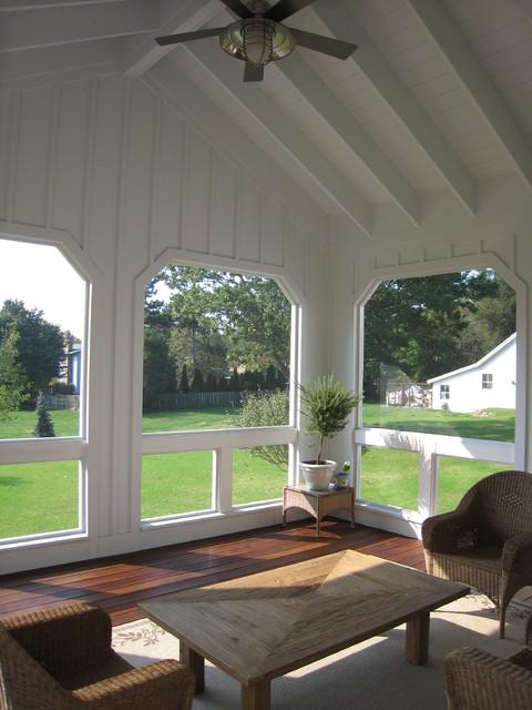Screened Porch farmhouse-porch