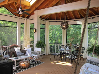 A Screened In Porch Communes With Nature