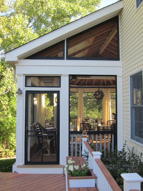 Screened Porch Sanctuary Traditional Porch Chicago