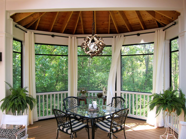 Mosquito Curtains For Patio Decorating a Screened in P