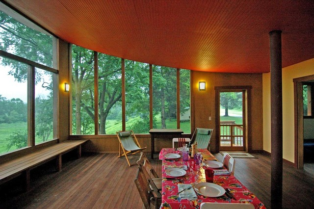 Screened porch modern porch new york by stoller for Modern screened porch