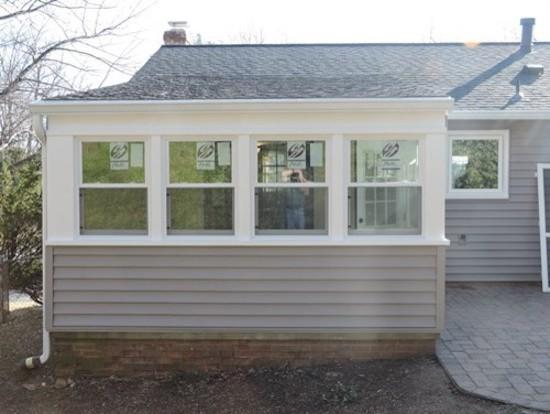 Screened Porch To Sunroom Conversion