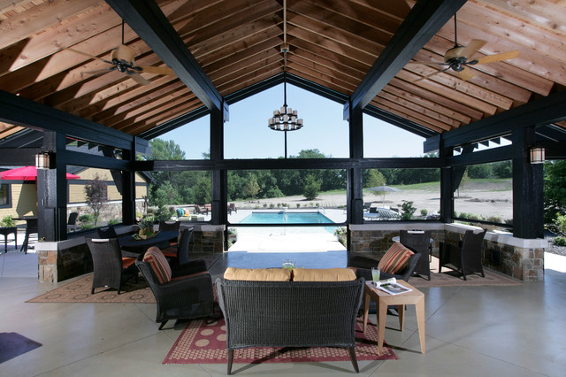 Screened Porch Contemporary Porch Grand Rapids By
