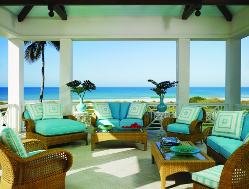 beach style porch Color of the Month: Decorating with Seafoam