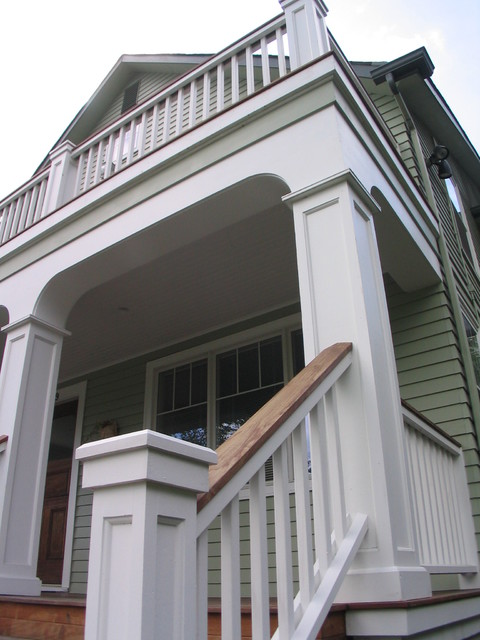 Seattle Front Porch Addition traditional porch