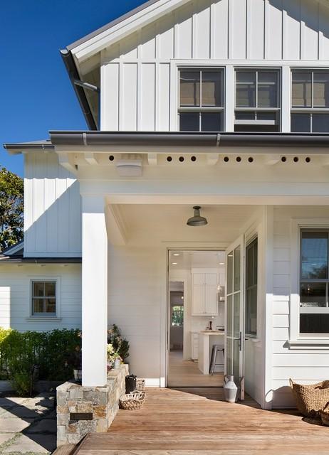 Shades Of White Farmhouse Porch San Francisco By