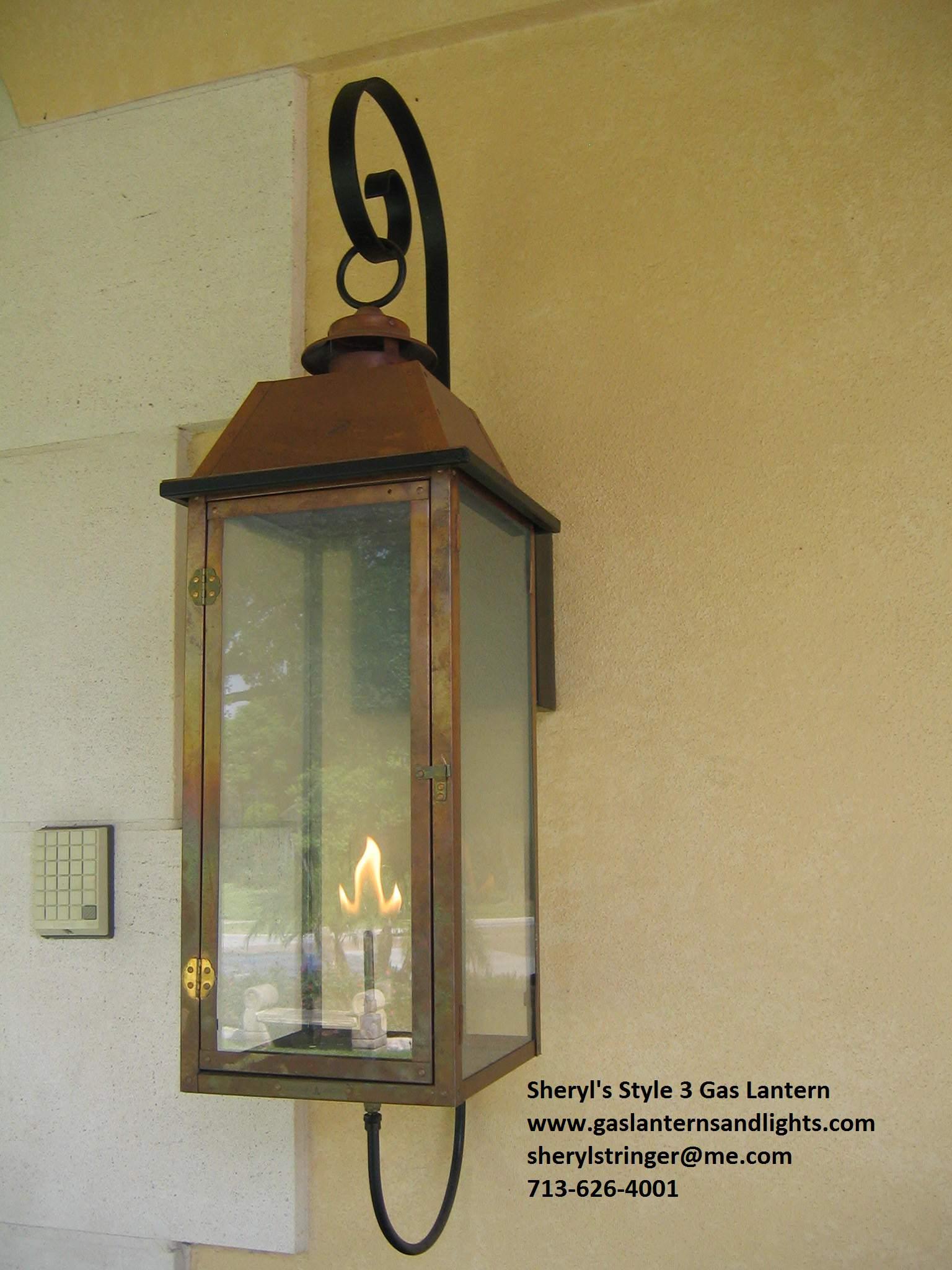 Sheryl's Style 3 Transitional Gas Lantern