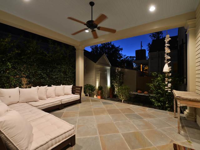 Shotgun Style traditional-patio