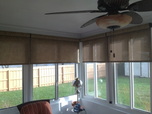 Signature Series Roller Shades Traditional Porch