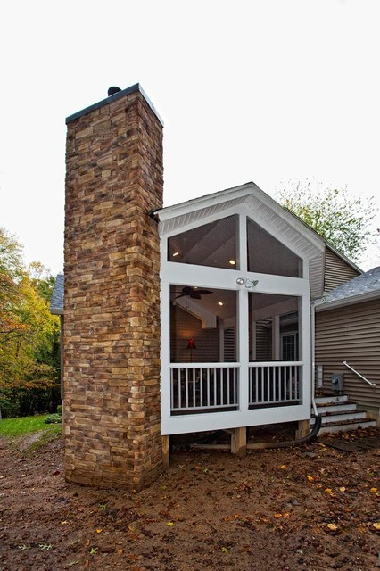 Single Family Home Addition in Oakton, Virginia Gets Facelift Inside and Out traditional-porch