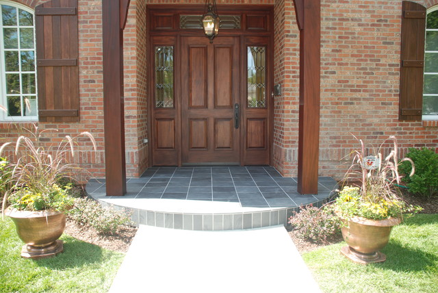 Slate Contemporary Porch Denver By Knapp Tile And