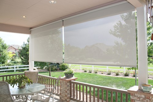 outdoor shade solutions roll down shades
