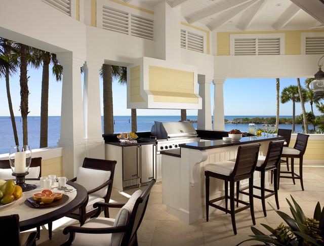 Interior Designers. Sophisticated Key West Style Tropical Veranda