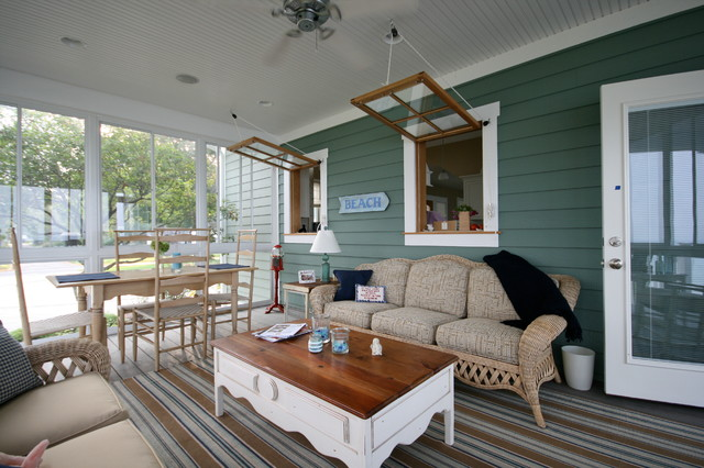 South monroe beach beach style porch other metro for Coastal cottage style homes