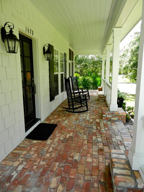 Southern Coastal traditional-porch