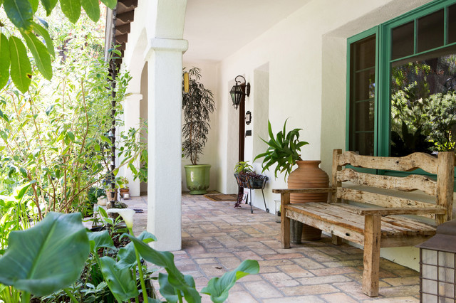 Spanish Bohemian In South Pasadena Mediterranean Porch