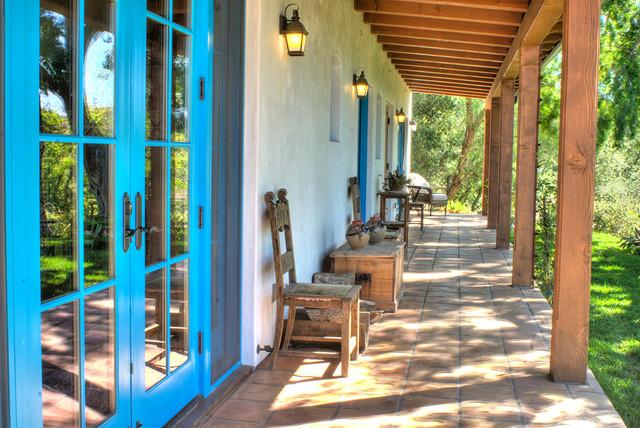 Spanish Hacienda Homestead Southwestern Porch Santa