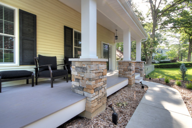 St Louis Covered Front Porch Contemporary Porch St