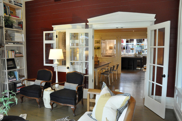 St. Simons Island, GA home staging traditional-porch