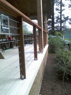 Stainless steel cable railing systems modern-porch