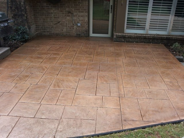 StampedStained Patio Traditional Porch Oklahoma City By Advanced Concrete Designs Inc