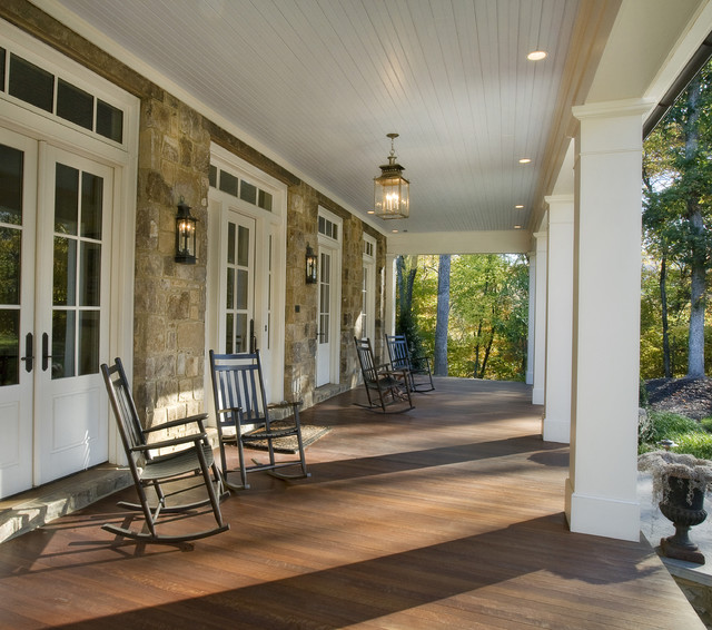 Stone residence 1 traditional nashville by norris for Outdoor porch flooring