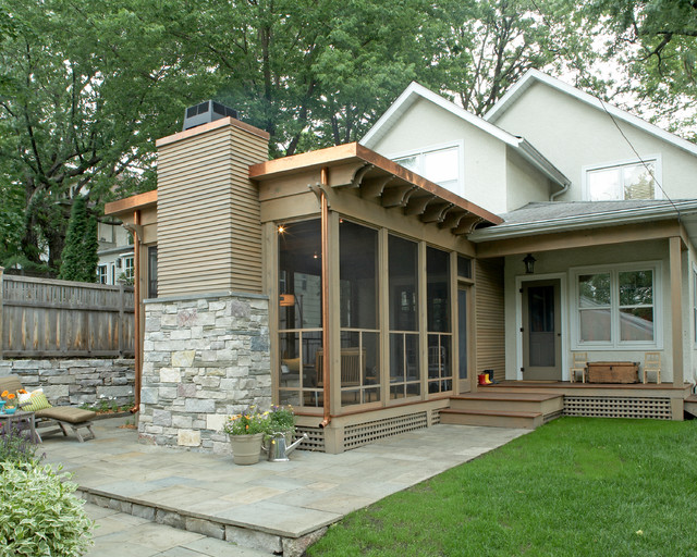 Striking Three Season Porch - Traditional - Porch - Minneapolis ...
