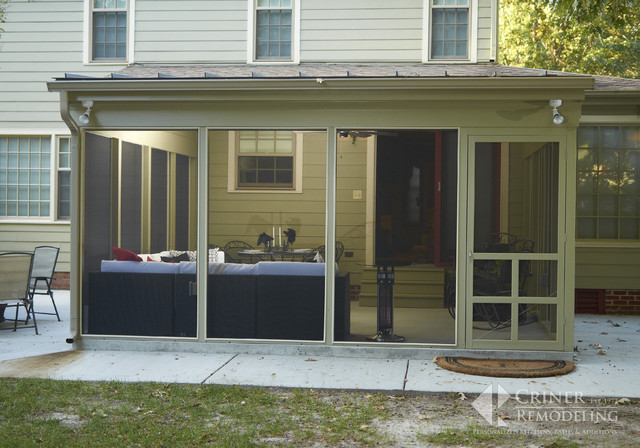 Stylish Screened Porch Contemporary Porch Other By