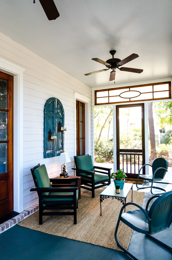 This is an example of a farmhouse porch design in Other.