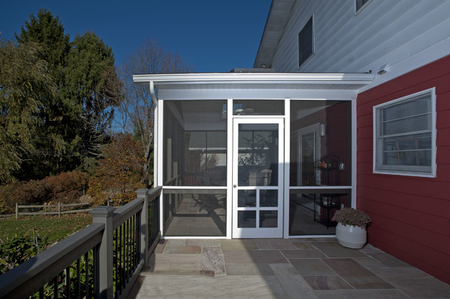 Sun Porch Addition With Flagstone Patio Traditional