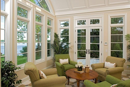 Sunroom traditional porch