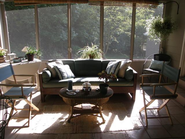 Eclectic Porch St Louis Suzanne Topham eclectic-porch