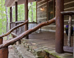 Talking Rock Log Cabin rustic porch