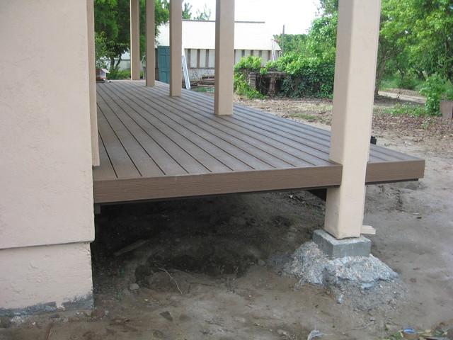 Tamko Evergrain Composite Decking Mediterranean Porch