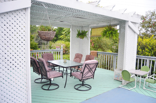 Teal Porch traditional-porch