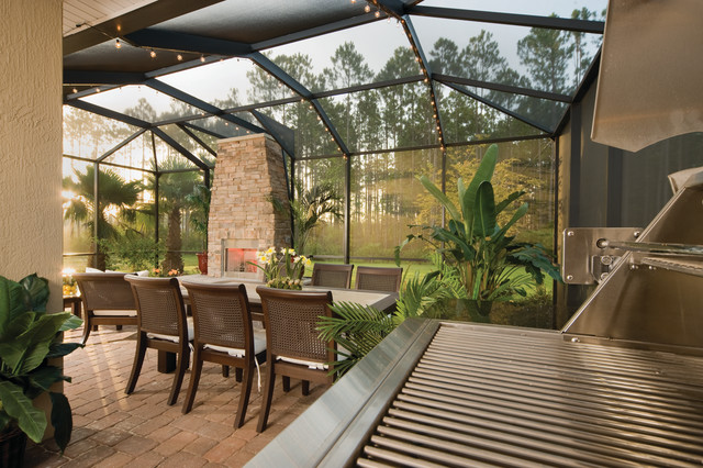 The Beeson Contemporary Porch Jacksonville By David Weekley Homes